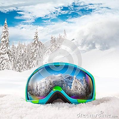 Free Colorful Ski Glasses Stock Images - 62169954