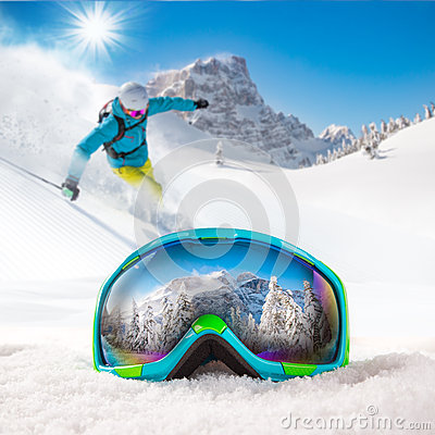 Free Colorful Ski Glasses Royalty Free Stock Image - 63058336