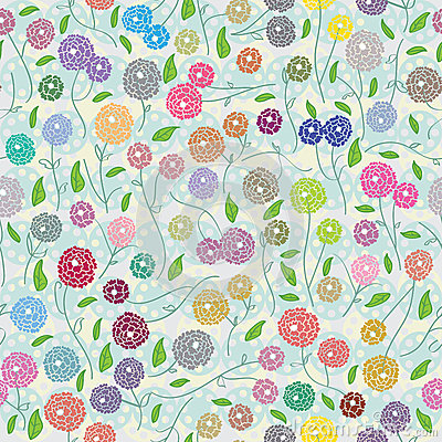 Colorful Small More Flower Seamless Pattern_eps