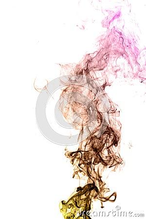 Colorful smoke on black background