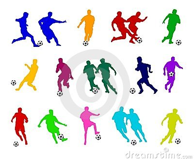 Colorful Soccer Players
