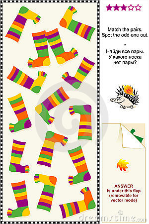 Colorful socks visual puzzle