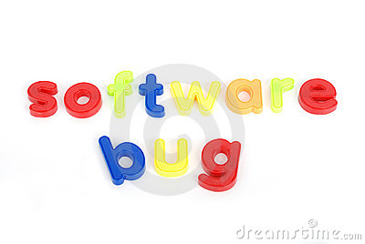 Colorful software bug  letters
