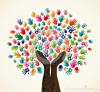 Free Colorful Solidarity Design Tree Royalty Free Stock Images - 32018599