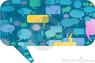 Colorful speech bubble concept