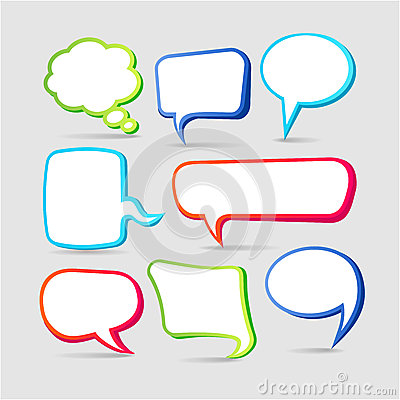 Free Colorful Speech Bubble Frames Royalty Free Stock Image - 32259046