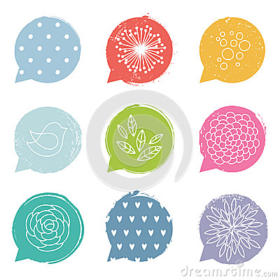 Free Colorful Speech Bubble Set Royalty Free Stock Image - 31661046