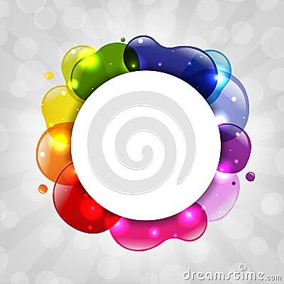 Colorful Speech Bubble With Sunburst