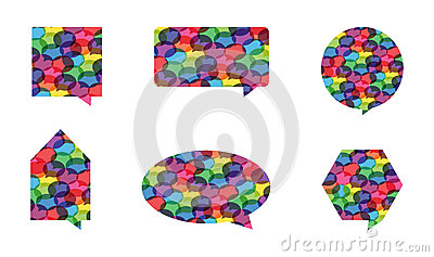 Colorful Speech Bubble Vectors