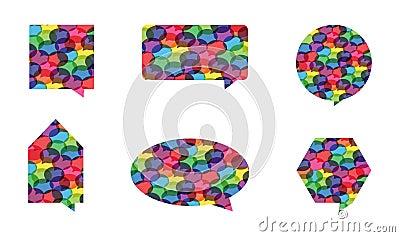 Colorful Speech Bubble Vectors