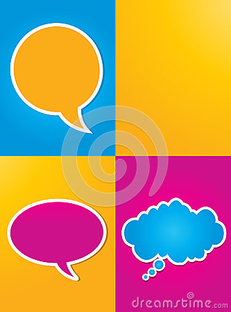 Colorful speech bubbles poster