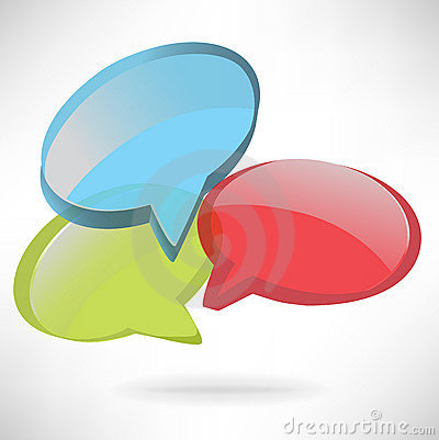 Colorful speech dialog boxes