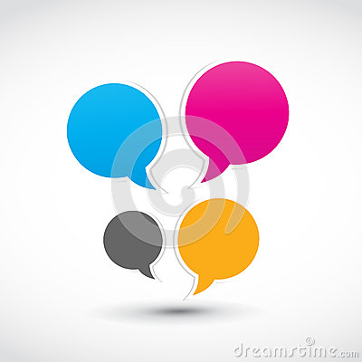 Colorful speech dialog bubbles