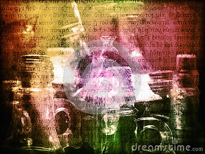 Colorful spell potions of magic witch background