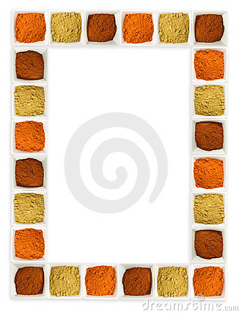 Free Colorful Spices Food Page Border Stock Photo - 7495710