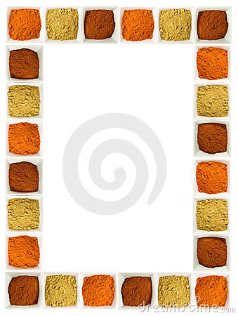 Free Colorful Spices Food Page Border Royalty Free Stock Photo - 7495855