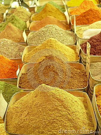 Free Colorful Spices On An Oriental Bazaar Royalty Free Stock Photo - 8559375