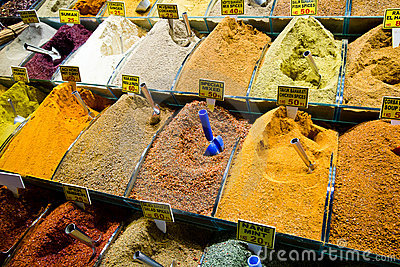 Colorful Spices selling on Grand Bazaar