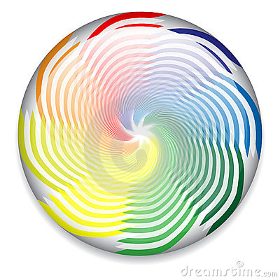 Colorful spinning button