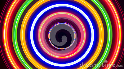 Colorful Spiral Lights Background Abstract