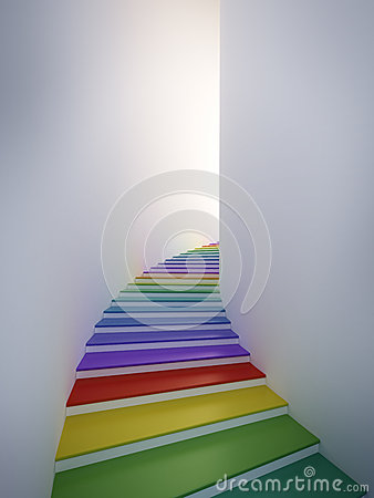Colorful spiral stair