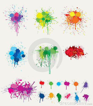 Colorful splats