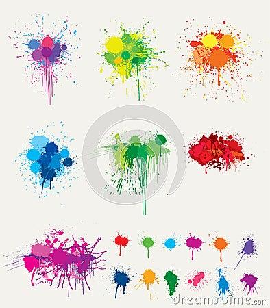 Colorful splats