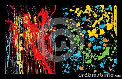 Colorful splatter backgrounds