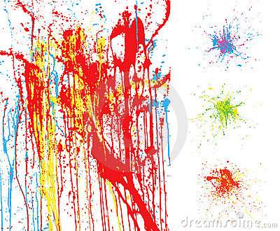 Colorful splatter backgrounds