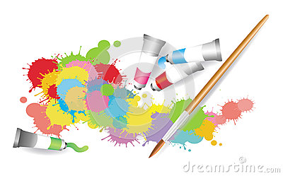 Colorful Splatter By Watercolor Painting Stock Image - Image: 28779671