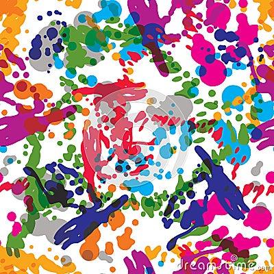 Free Colorful Splattered Web Design Repeat Pattern, Art Ink Blob, Dau Stock Photography - 51322062