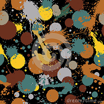 Free Colorful Splattered Web Design Repeat Pattern, Art Ink Blob, Mes Royalty Free Stock Images - 57704559