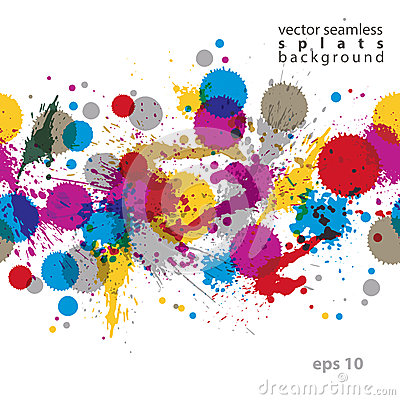 Free Colorful Splattered Web Design Repeat Pattern, Art Ink Blob, Mul Royalty Free Stock Photography - 48070157
