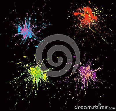Colorful splatters