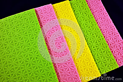 Colorful sponge cloths