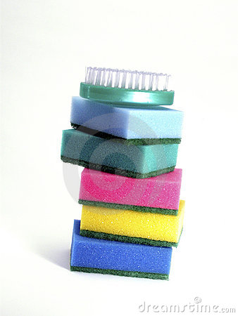 Colorful Sponges and Scrubber