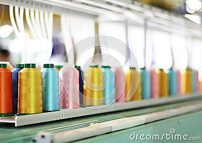 Colorful Spool Embroidery machine