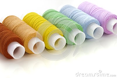 Colorful spools threads