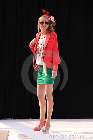 Colorful spring fashion catwalk Editorial Stock Image