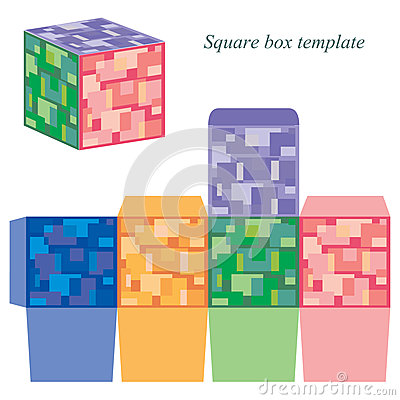 square box with lid template