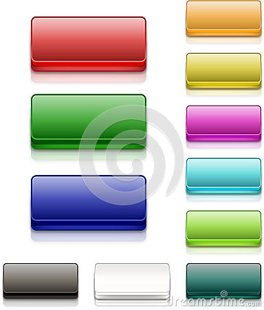 Colorful Square Buttons Blank
