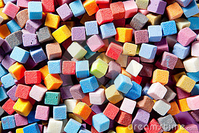 Colorful square foam cubes texture