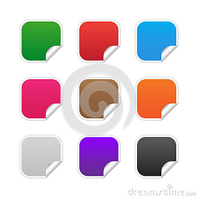 Colorful Square Labels Royalty Free Stock Image - Image: 25698386
