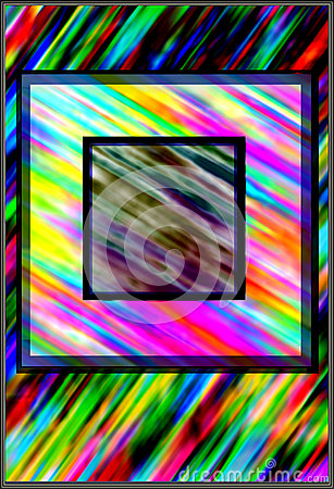 Colorful background with square frames superposed