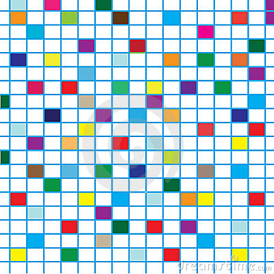 Colorful Squares with lines