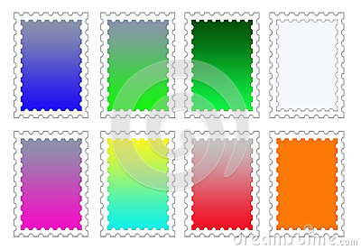 Colorful Stamp Backgrounds Set PNG