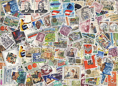 Colorful stamps background