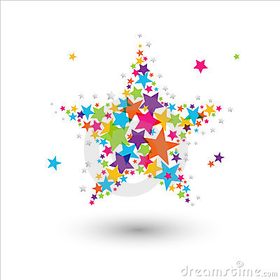 Free Colorful Star Royalty Free Stock Images - 15370269