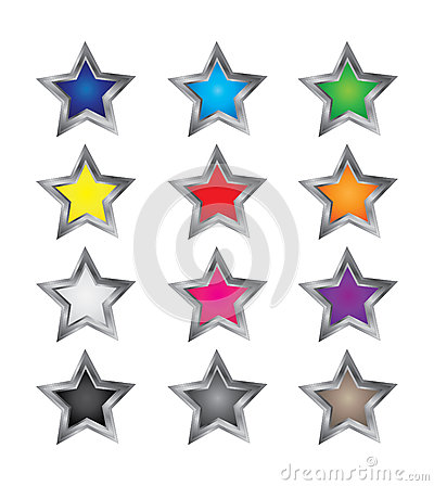 Colorful Star Vectors
