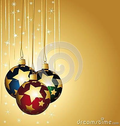 Colorful stars christmas balls